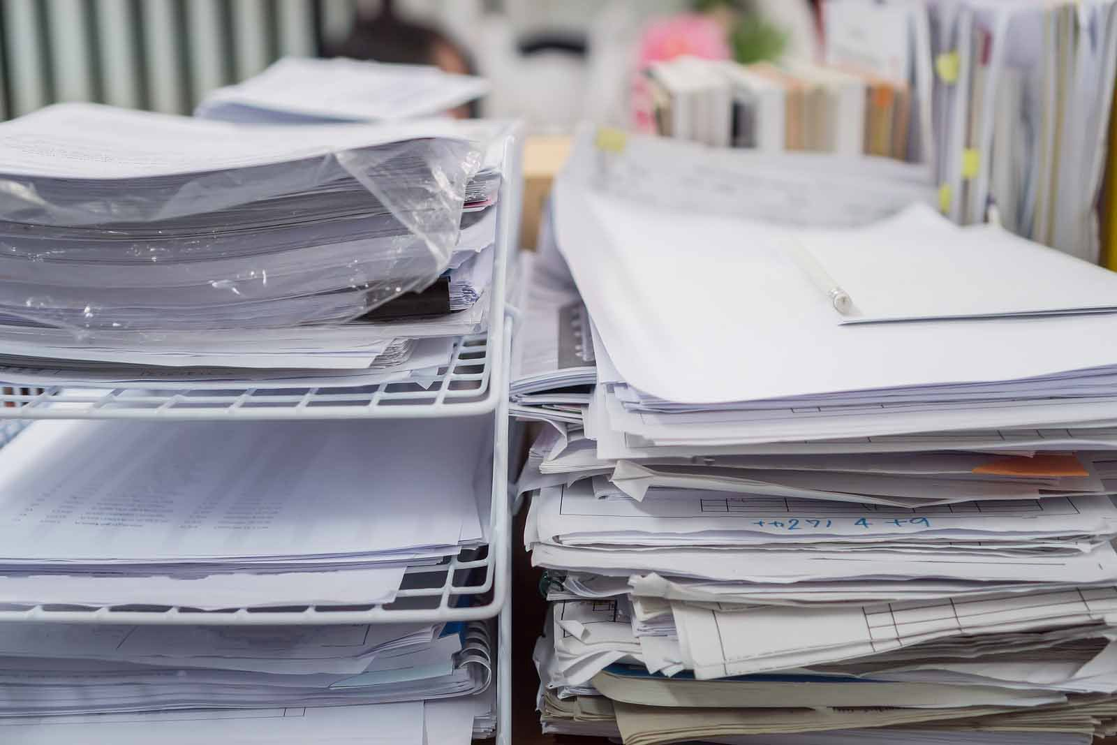 paper bookkeeping documents